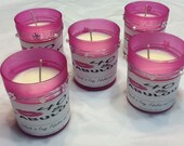 Set of 10 4oz Customized Scented Candles