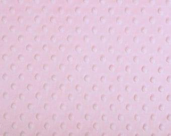 Any Yardage - Baby Pink Minky Fabric - Shannon Fabrics Dimple Dot Minky