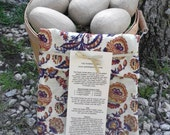 Brown and Navy Blue Floral Potato Pocket