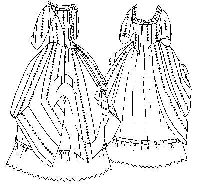 Pi420 1770 Polonaise Amp Petticoat Sewing Pattern By