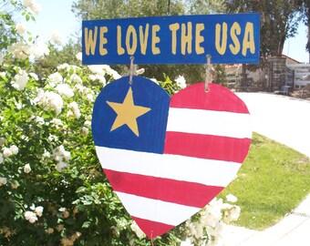 We Love The USA Hanger