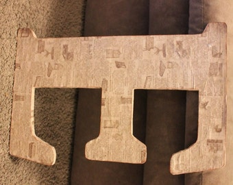 Newsprint Decorative Letter E
