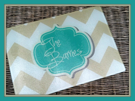Personalized Glass Cutting Board Custom Monogrammed Gifts for Mom Hostess Wedding Gift Ideas Housewarming Monogram Gifts for Cooks
