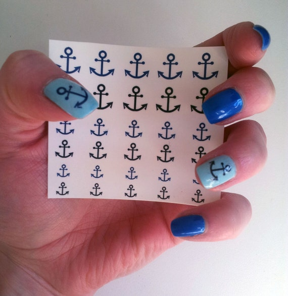 Anchor nail art decals – Great photo blog about manicure 2017