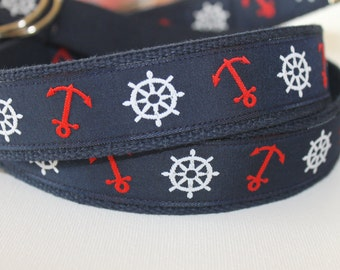 Adjustable Nautical Anchor D Ring Belt for Teens and Adults