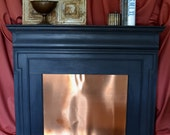 Antique Heart Pine Fireplace Mantel in Charcoal