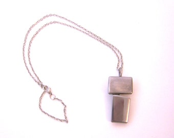 Stainless Steel Recycled Metal Necklace wih Pendant