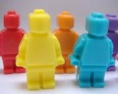 Handmade GIANT Lego Man Soap x 2 - Large Big, birthday present, party filler, fun bathtime