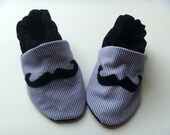 Baby moustache pram shoes, 6 to 12 months, baby booties, baby boy first soft shoes. baby smart shoes, baby formal wear. uk