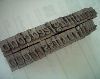 RR2 - Gorgeous Italic LETTERPRESS Lot - Semi-Complete Set