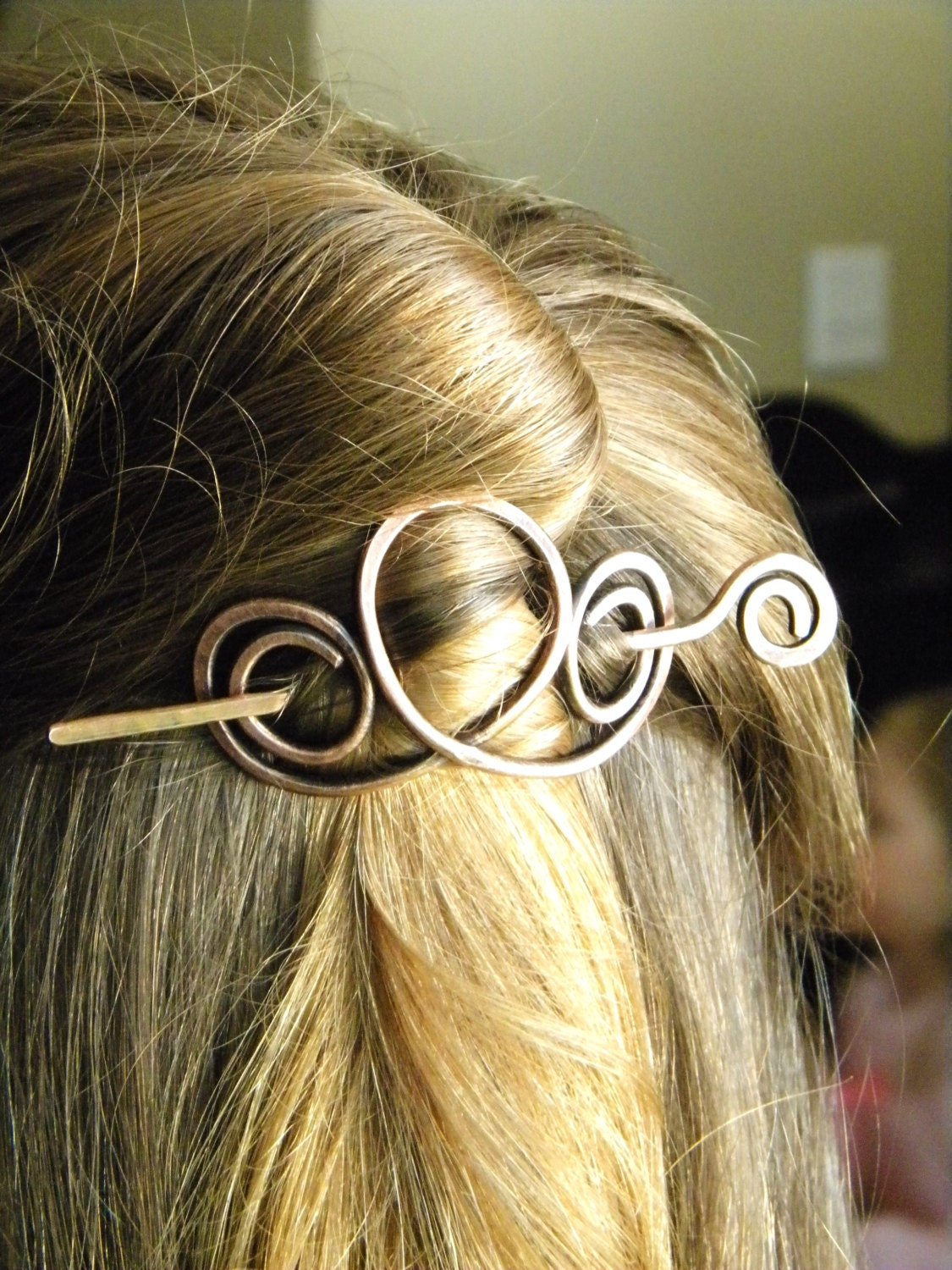 Hair Pins : Hair Clip Hair Accessories Hair Sticks Copper by ElizabellaDesign