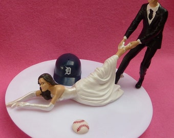 Wedding Cake Topper Chicago Cubs Baseball Themed Ball By