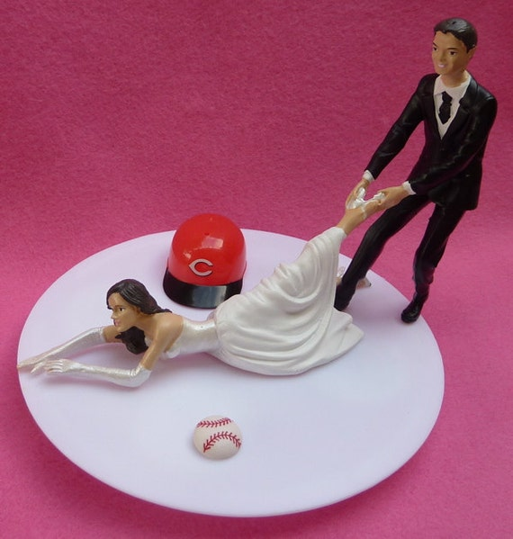 Wedding Cake Topper Cincinnati Reds G Baseball Themed W