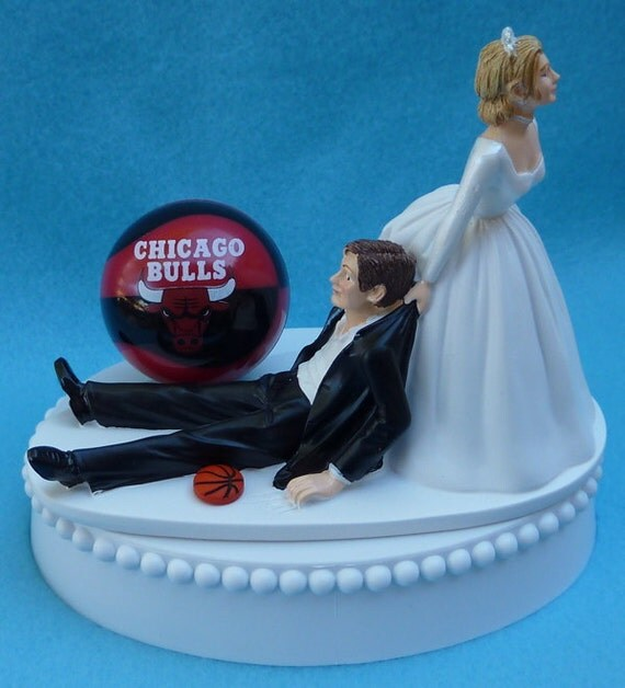 basketball wedding cake toppers wedding cake topper chicago bulls basketball themed w bridal 11106