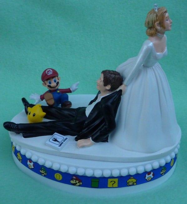 Wedding Cake Topper Mario Video Game Player Gamer Gaming