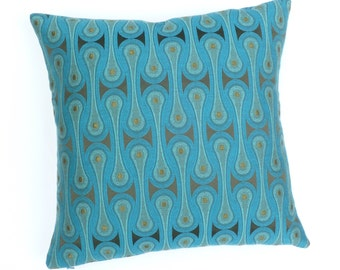 "Design 9297 by Josef Hoffmann -Peacock - Maharam - Same both sides - pillow 17"" x 17"" feather/down insert included"