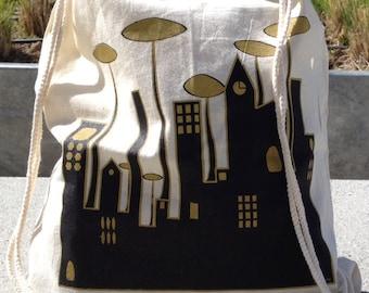 City Backpack bag - Ciudad Mochila de algodón