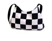 Checkered purse bag. Womens Shoulder Bag. Stylish purse