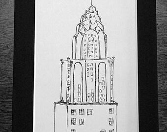 NYC Chrysler Building Sketch