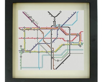 London Underground Cross Stitch Pattern