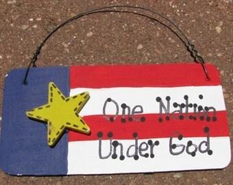 Patriotic Sign  10977ONUG - One Nation Under God
