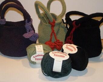 wool bucket bag