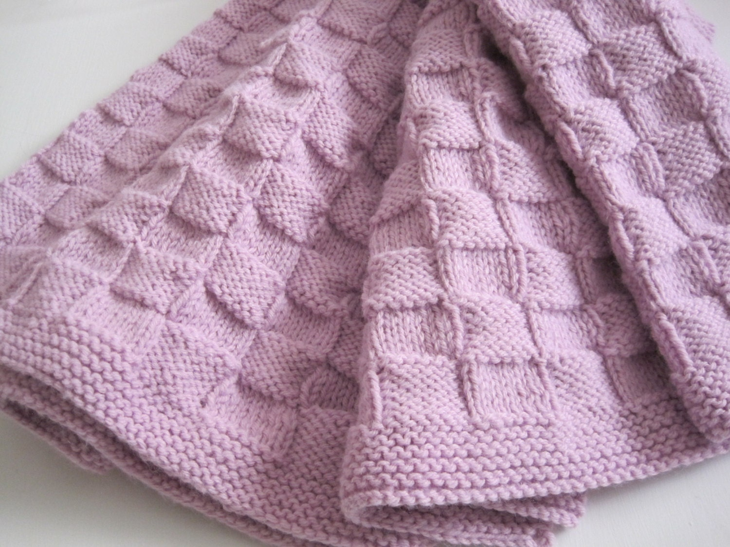 Baby Girl Blanket Knitting Patterns : Baby Blanket Baby Girl Baby Boy Baby Shower Hand Knitted