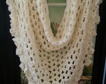 Crochet Pattern Lace Shawl Bridal Shawl Wrap