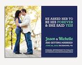 Photo Save the Date/Printable/She Said Yes