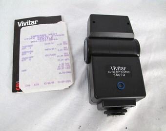 Vivitar 550FD Flash Auto Thyristor NEW CONDITION With Original Receipt Collectors Piece