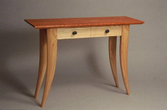 Hall Table / Console Table In Curly Cherry And Ash
