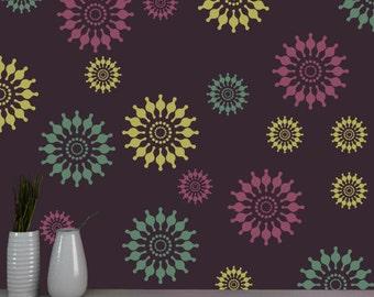 Reusable flower stencil, DIY homemade stencil, FS - 11