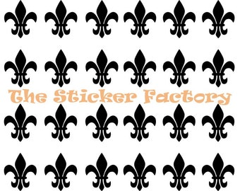 32 1 inch Fleur De Lis Vinyl Decal Wall Art Decor Stickers