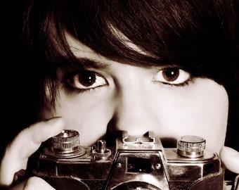 Camera Portrait Canvas, Photo Print Wall Art