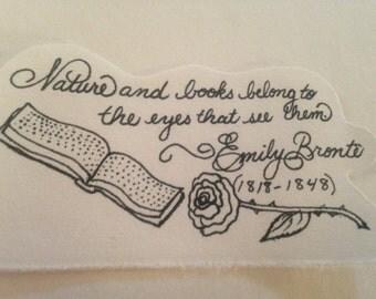 Literary Quotation Bookmark -- Emily Brontë