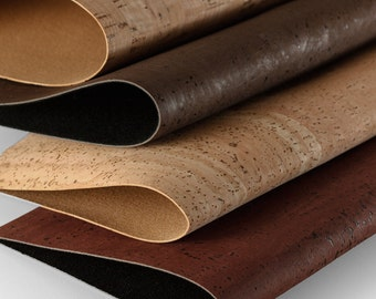 Cork Leather Textile Wholesale - Vegan Fabric - Cork Fabric Portugal Supplier - Kork - 0.7 x 0.5 meters /27.6 x 19.7 in ( CK8 )