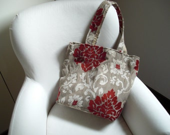 Handmade bag in high quality upholstery fabric