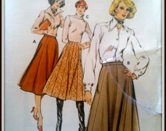 Kwik Sew  Pattern 363  ladies Gored Skirts  Size (6-8-10)