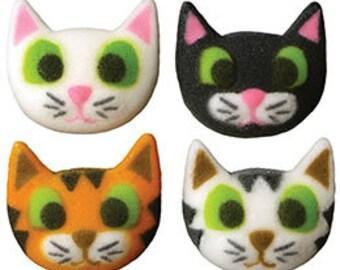 30 Edible Cat Faces Sugar Decorations        Simply Darling