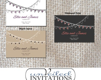 Printable Save The Date Post Card - Banner