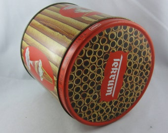 """50% OFF: Tin can Tekrum """"Hohlhippen"""" (""""wafer sticks"""") from the 50s. VINTAGE"""