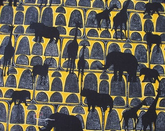 Disney fabric animal kingdom design elephant giraffe