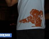 Metroid T-Shirt Orange on Blue