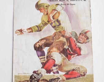 College Football Official Program, Shaw vs.Heights from 1949