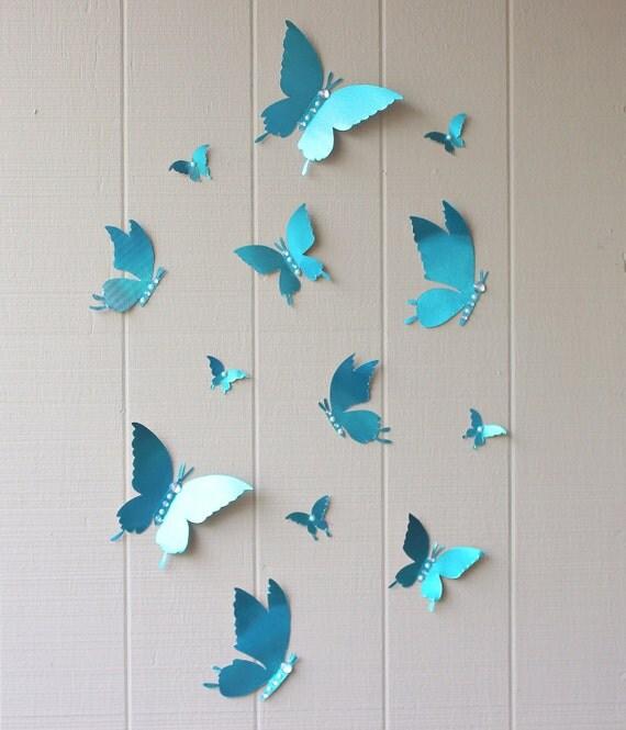 3d schmetterlinge butterfly wand aufkleber 3d hochzeits. Black Bedroom Furniture Sets. Home Design Ideas