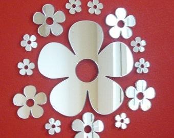 Daisy Mirror Bundle One 12cm, Five 6cm & Five 4cm Mirrors