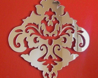 Damask Design Mirror - In several sizes.