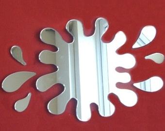 Splash Puddle Mirror with Six Splashes - 5 Sizes Available