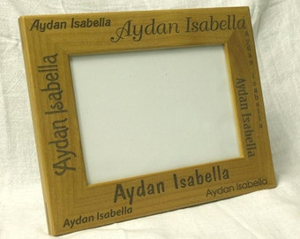 Laser Engraved Personalized Childs Name Picture Frame 5 x 7