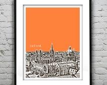 Oxford England Poster  Art Print UK United Kingdom Oxford University